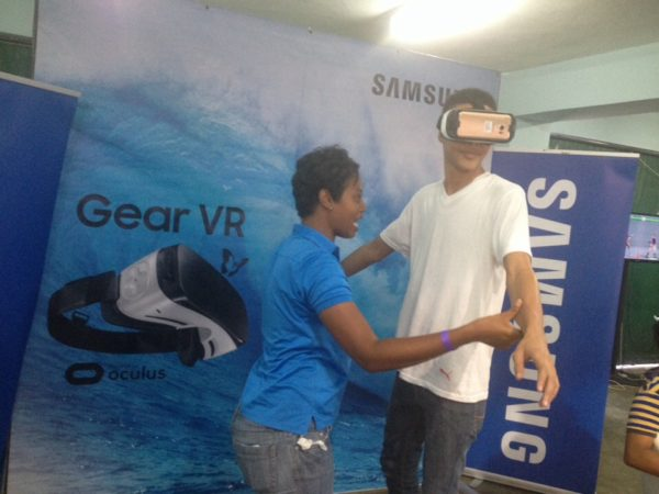 Patrons at the venue had a blast with the VR technology