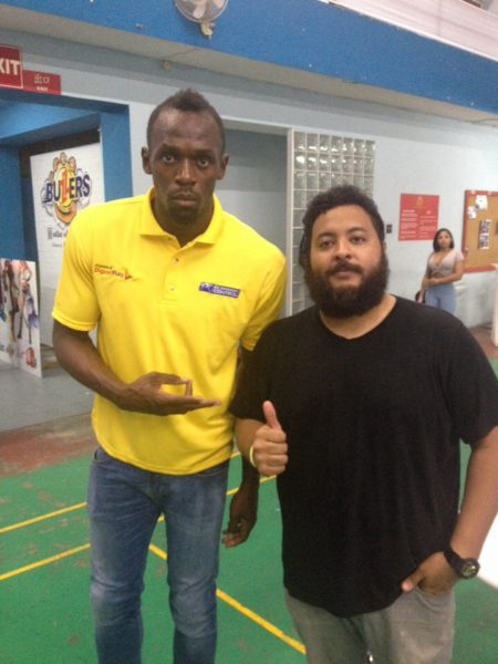 Usain Bolt and KDZ share a photo OP