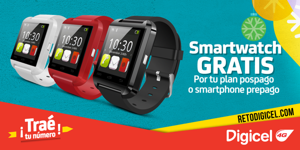 Digicel El Salvador smartwatch Promotion indicates plans for Easter 2016