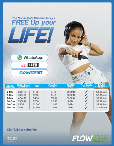 FLOW Lyf Data Plans wins over Whatsapp, Deezer and FLOW Sports Fans