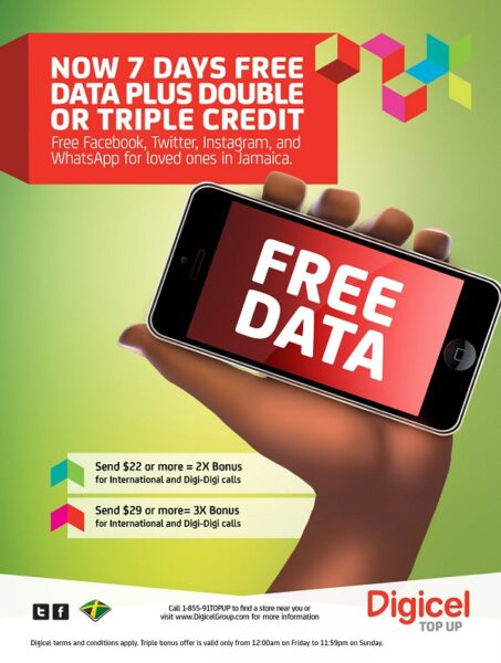 How To Get Digicel S 7 Days Free International Calling And Browsing