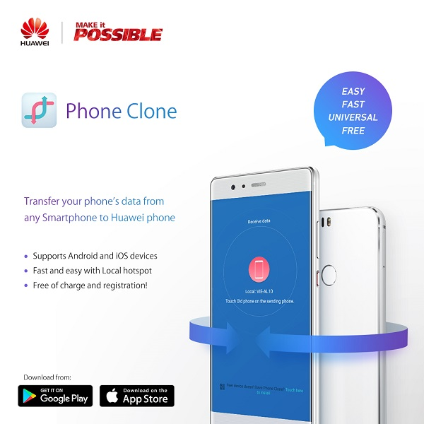 Use Huawei Phone Clone App to transfer Contacts and Content - Geezam com